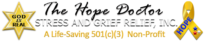 The Hope Doctor Stress and Grief Relief Inc., a 501(c)(3) Non-profit Public Charity Logo